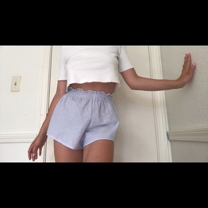 Subdued Blue Pinstripe Shorts